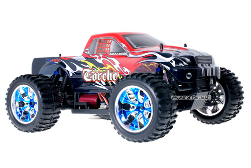 Himoto Brushless Truck Black Red 2.4GHz AANBIEDING!